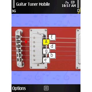 afinador para guitarra
