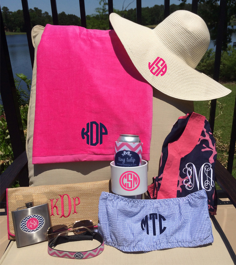 Monogrammed Floppy Wide Sun Hat