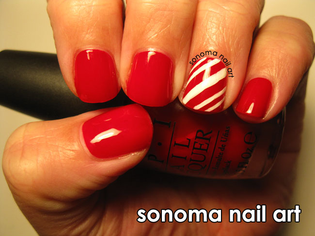 Sonoma nail art candy cane art prinsesfo Choice Image