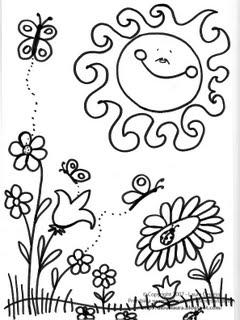 Dibujos de Primavera para Pintar, parte 3