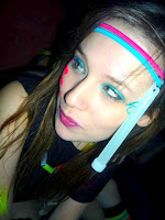 A photo of me after the neon roller disco 2010