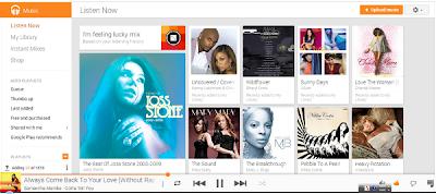 Google Music Web Topページ