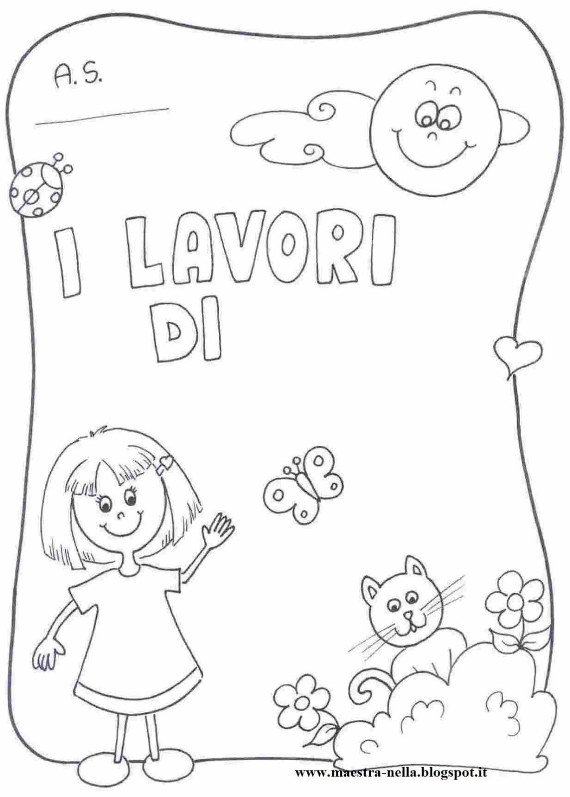 Maestra nella copertine raccogli lavori - Libri di scuola materna stampabili gratuitamente ...