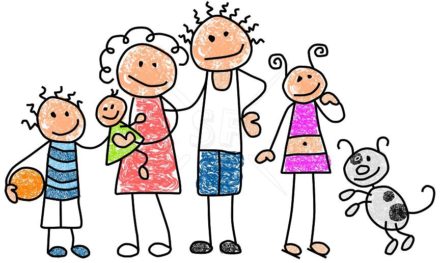 Caricaturas de familias felices - Imagui