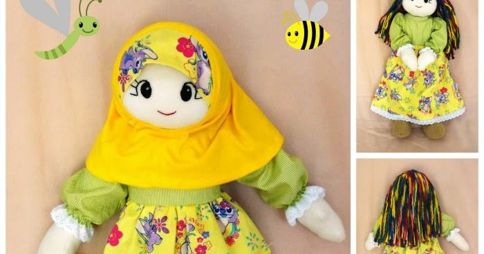 Buatan Tsabita Boneka: Handmade softdoll muslim 55cm