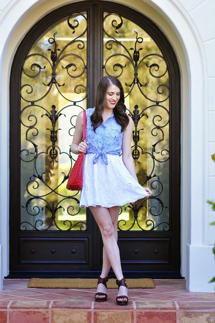 Forever21 eyelet white dress