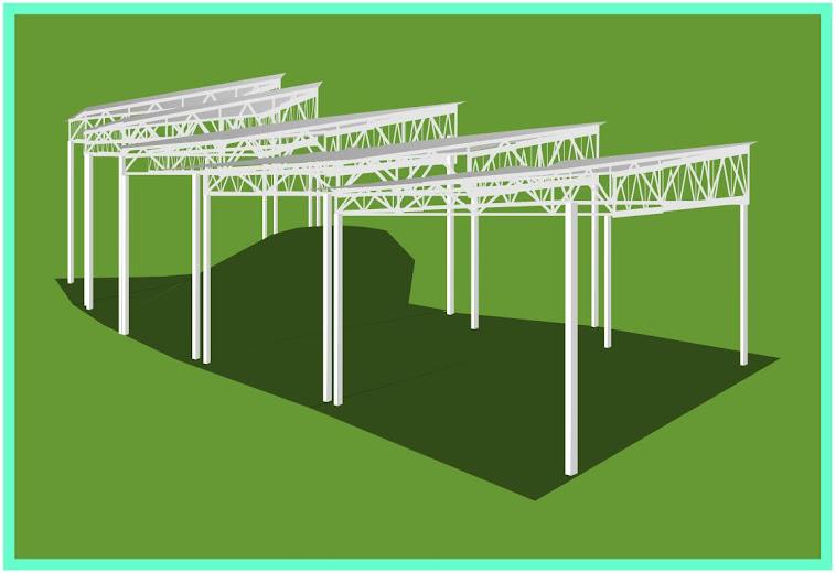Estruturas de treliças em tereno desregular!