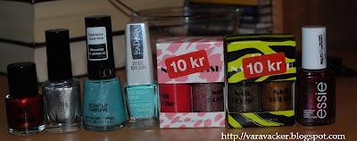 naglar, nails, nagellack, nail polish, christmas gifts, revlon, H&M, ginatricot, essie