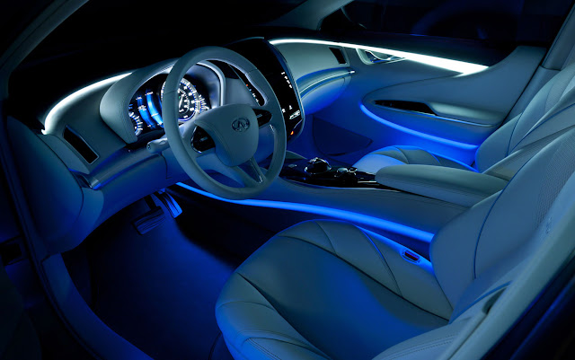 cars model 2013 2014 2012 new york infiniti le concept electric sedan lights up auto show floor. Black Bedroom Furniture Sets. Home Design Ideas