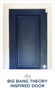 DIY Big Bang Theory Inspired Door