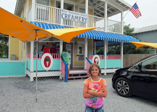 Staying a little further west on the Panhandle this time, we discovered a new ice cream haunt. Blue Mountain Beach Creamery makes their own ice cream and features creative flavors. The banana pudding cone I had was so good I ordered it both times we stopped by.