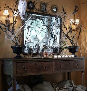 here are some awesome pictures of halloween decorations to inspire you either for a party or just for your home
