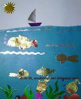 Поделка рыбка из фольги 18