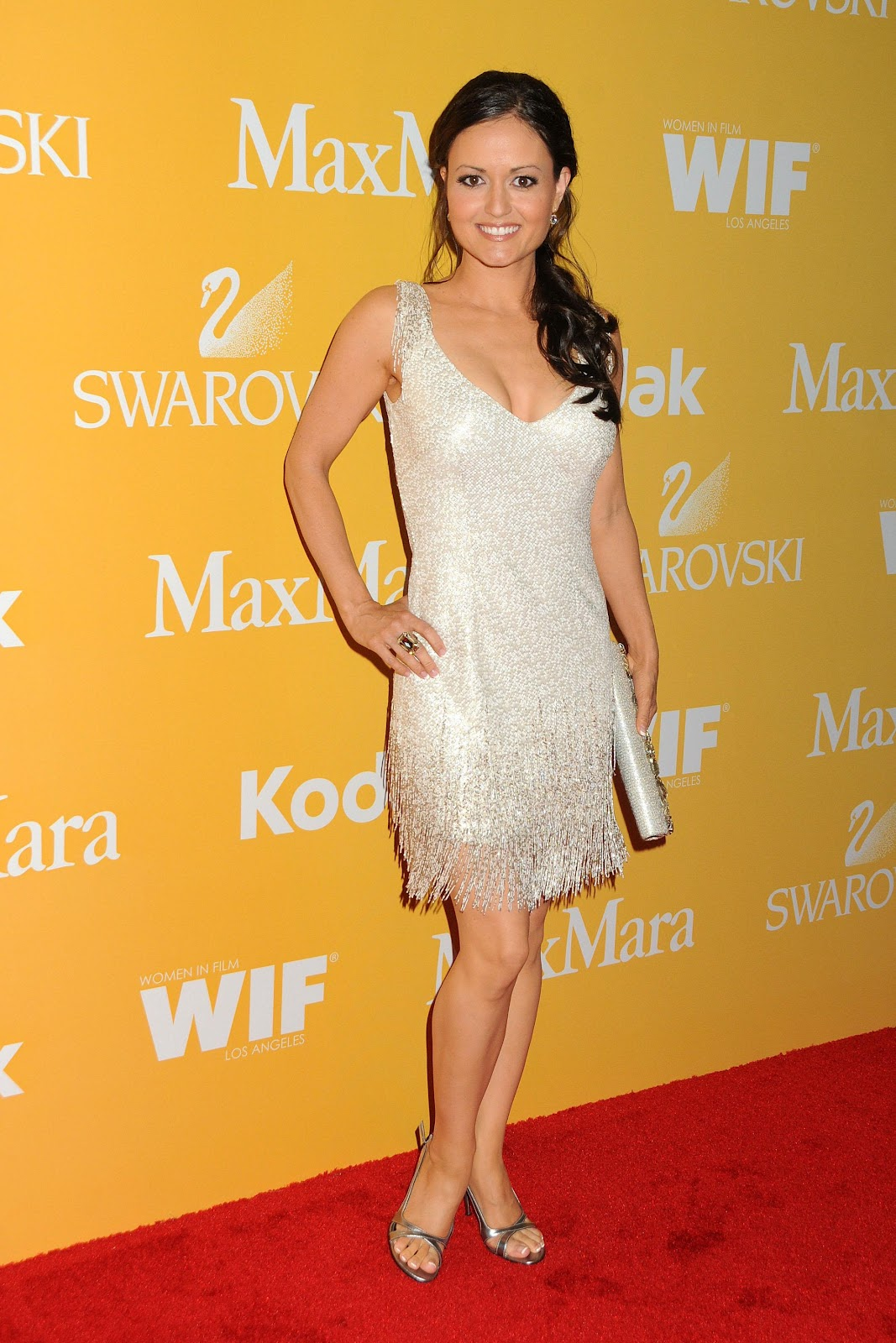 Danica mckellar 2012 women in film crystal sexy leg cross