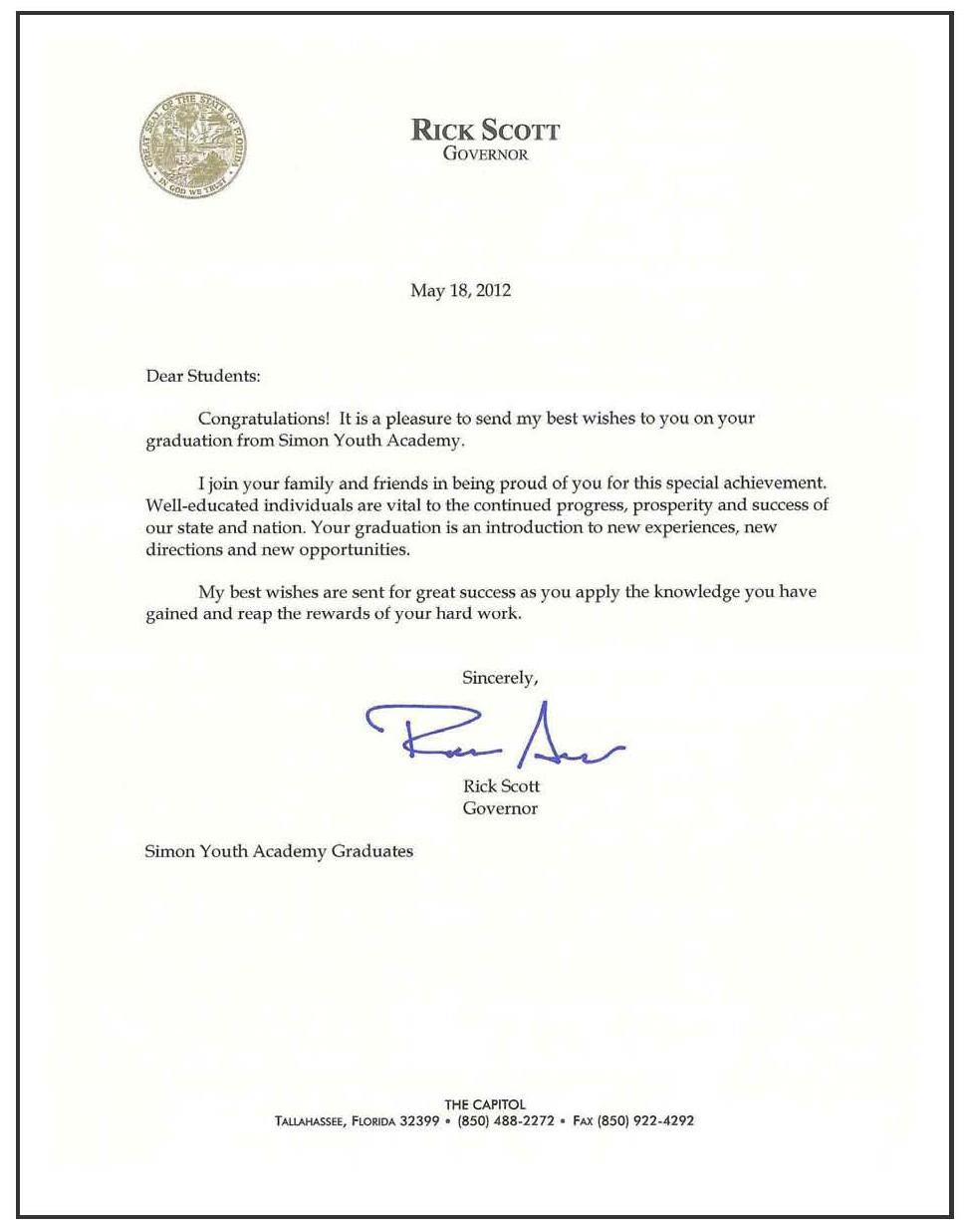 congratulations letter for graduation
