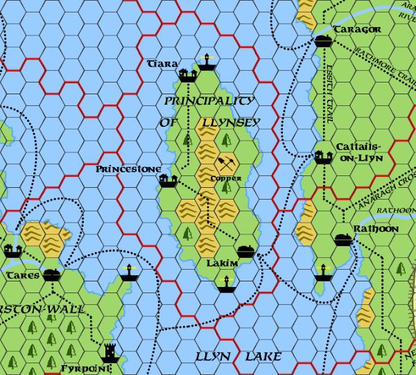 Mystara Alphatia Foresthome Llynsey map