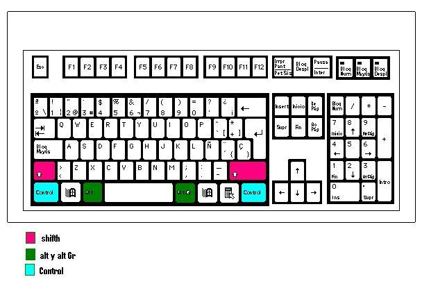 Dibujos para colorear el teclado - Imagui