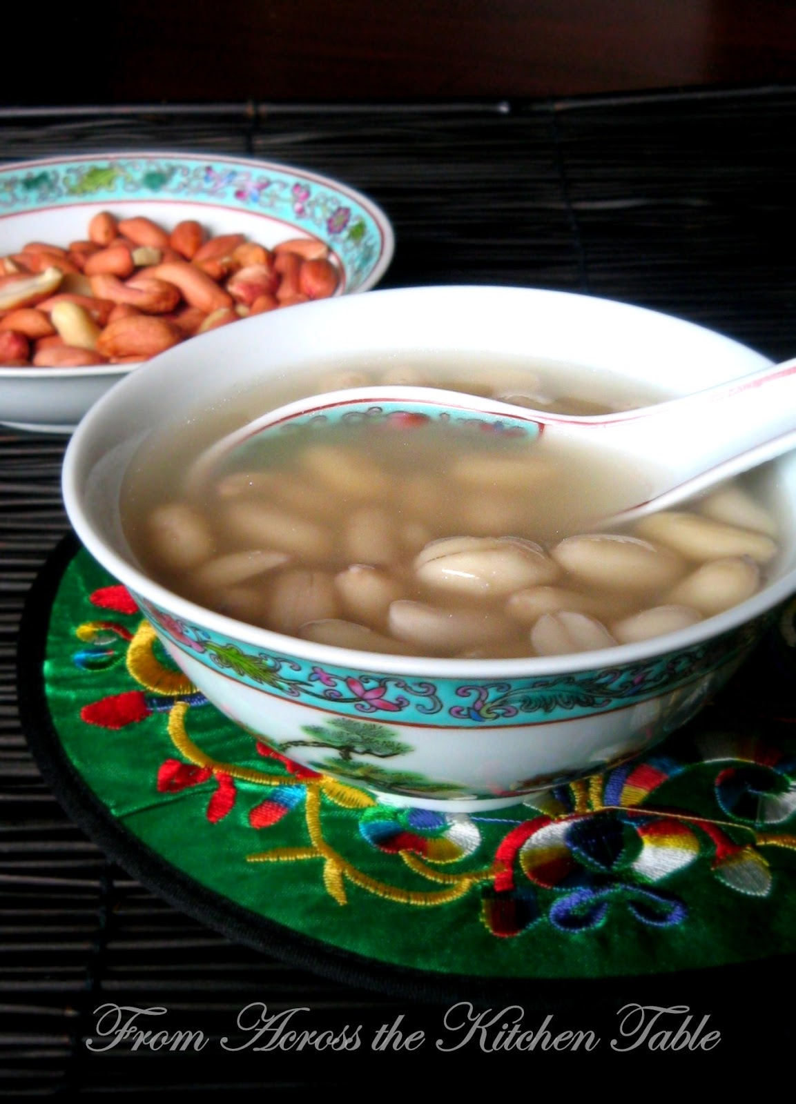 From Across the Kitchen Table: Chinese Sweet Peanut Soup