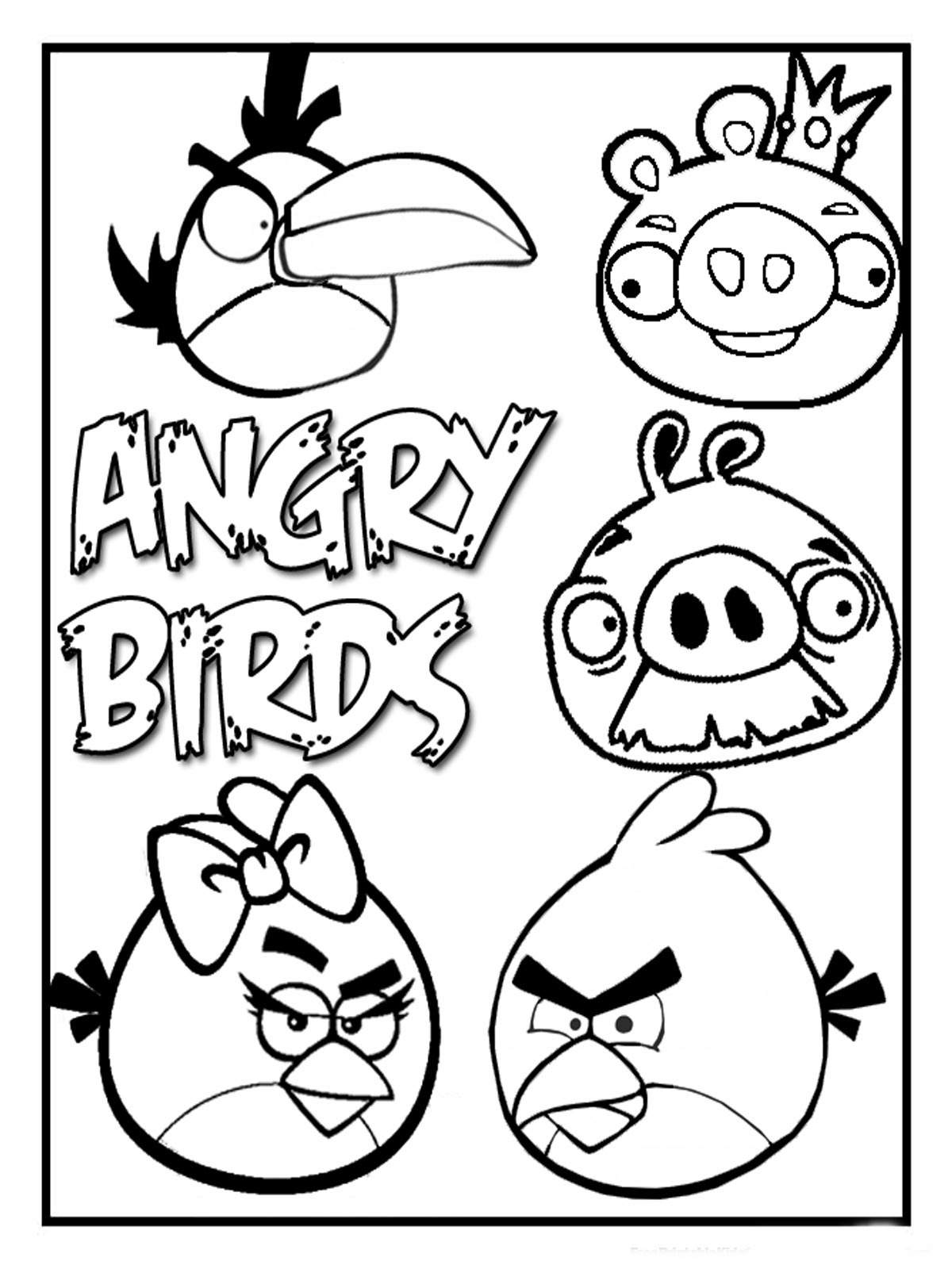 Angry Birds Coloring Pages For