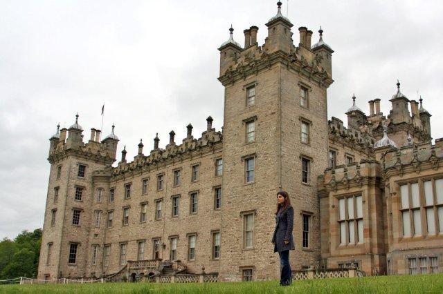 Castillo de Floors, Floors Castle en Kelso en los Bordes escoceses – Parte frontal Fachada Sur