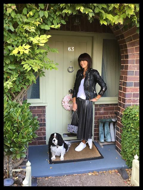 My Midlife Fashion, metallic skirt, zara leather biker jacket, mango leather trousers