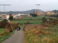Vista d'Olvan des del camí de Cal Floretes