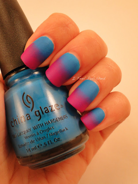 Matte Gradient Nails