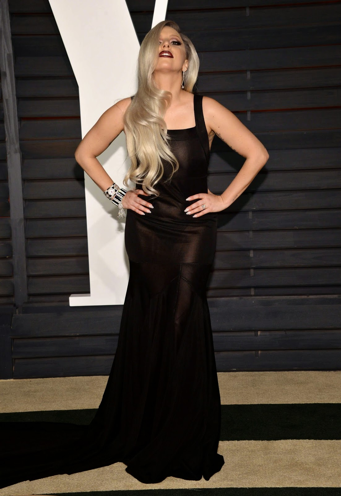 Lady Gaga – 2015 Vanity Fair Oscar Party in Hollywood