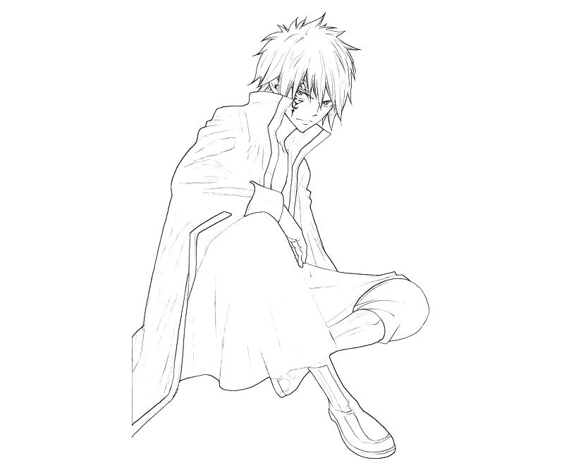 Printable Fairy Tail Zeref Character Coloring Pages title=