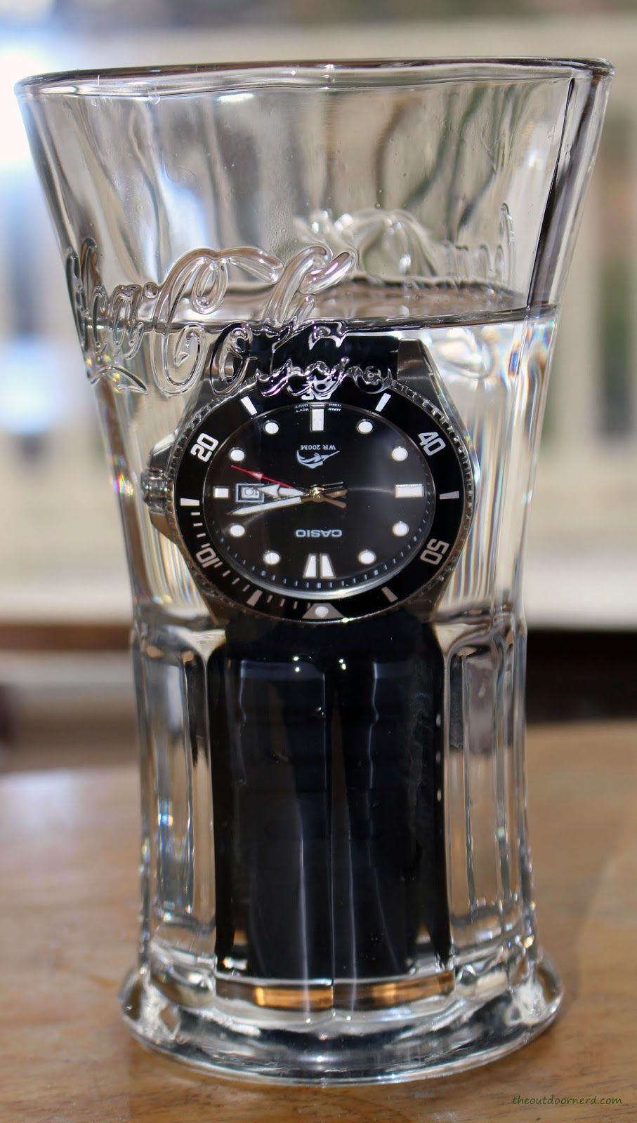 Casio MDV106-1A Diver's Watch: In Glass of Water