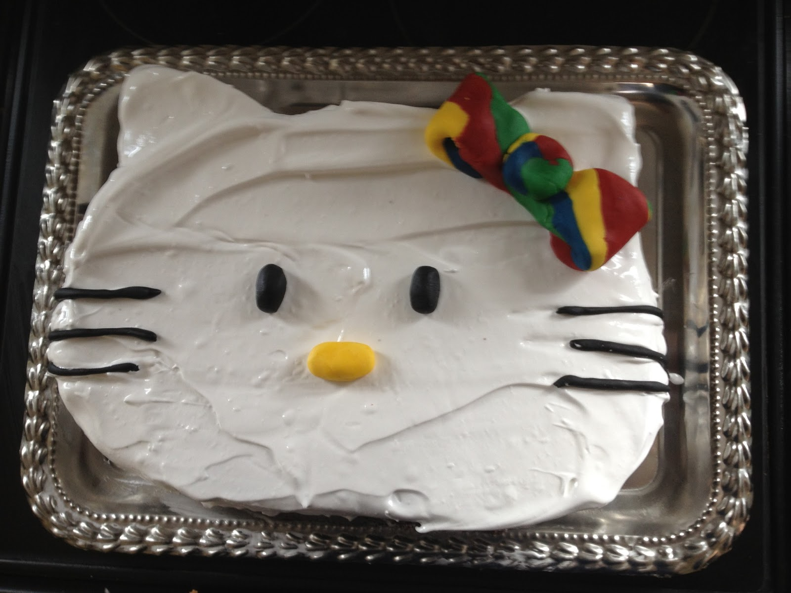 Alexandras Choice For Her Birthday Cake Was A Chocolate Hello Kitty I Adapted Recipe From The Gluten Free Cookbook Kids To Make