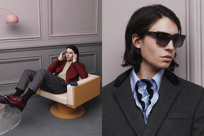 Ezra Miller en la campaña de Prada