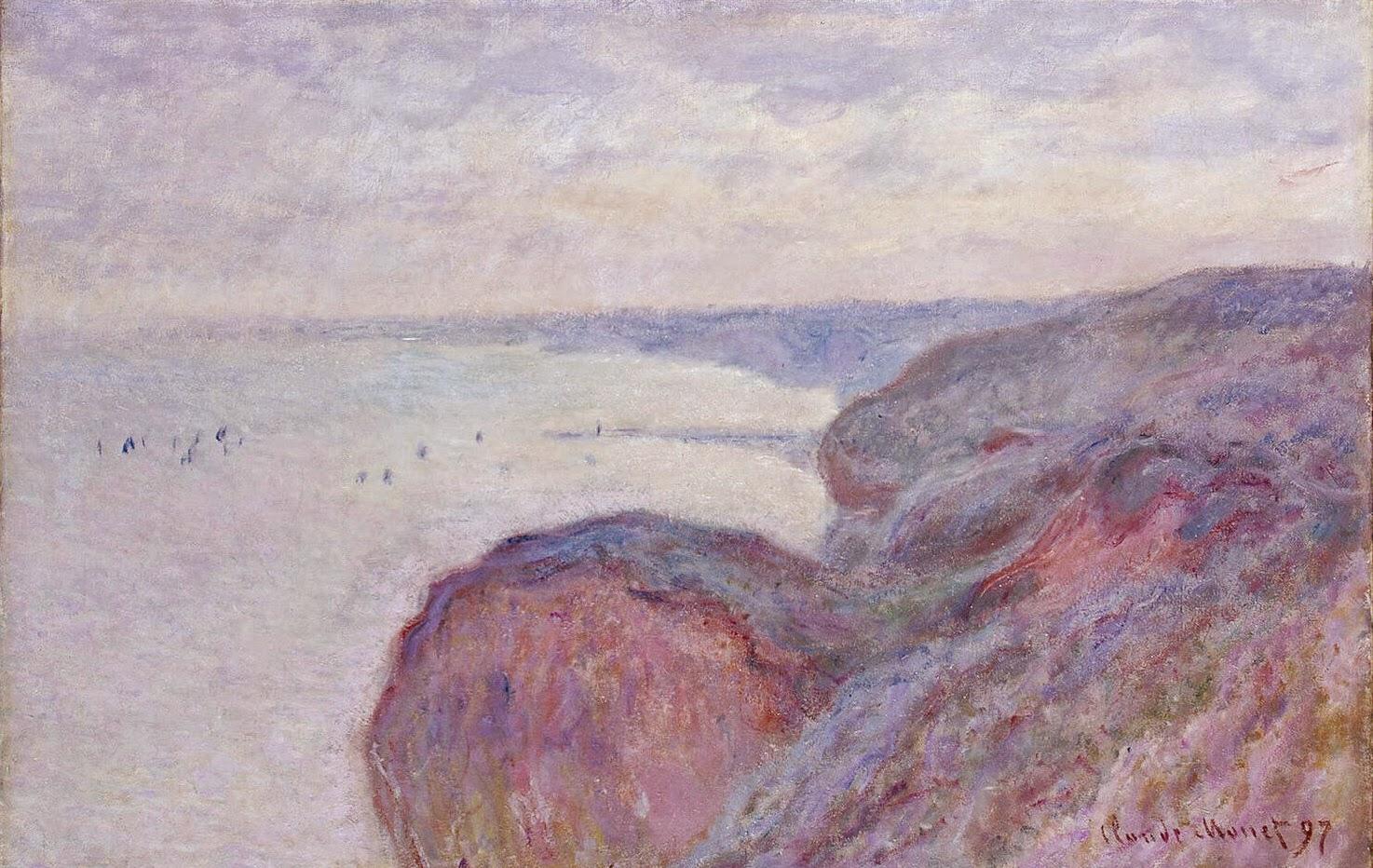Sur la Falaise près Dieppe, ciel couvert (1897)