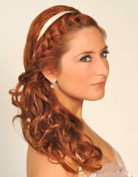 Peinados Para Bodas Con El Pelo Suelto - Peinados para Novias Semirecogido con Bonito Aplique de