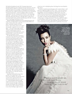 Kim Kardashian  in  a beautiful wedding dress for Tatler UK November 2012 Issue