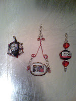 Jack Skellington air dry, painted, stickers, clear coat wire wrapped convertible pendants.