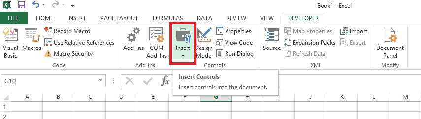 excel how to see developer tab