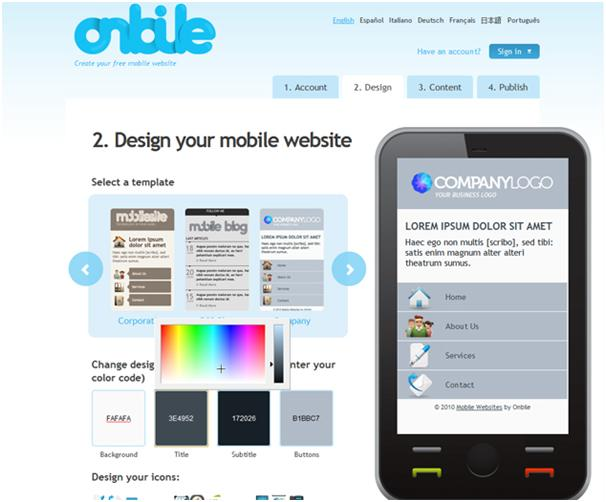 OnBile, a tool to create a mobile version of your website