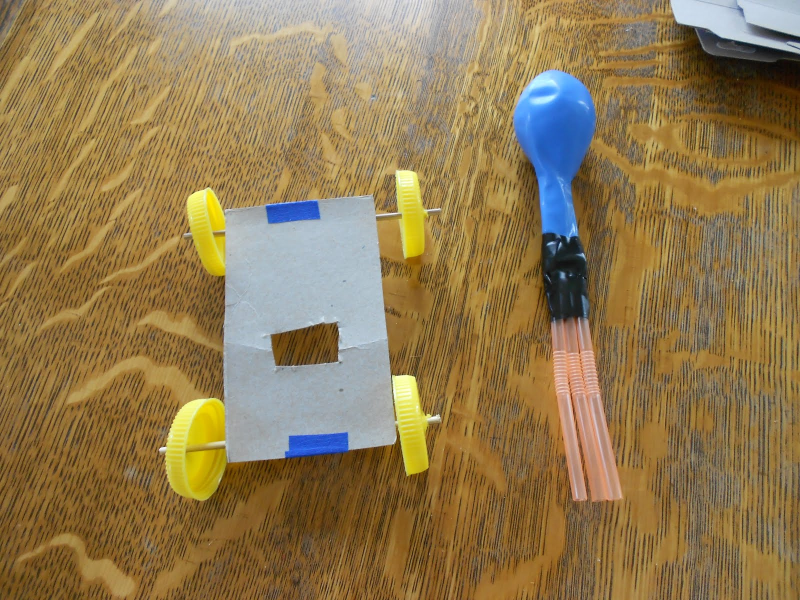 how to make a balloon powered car with cardboard