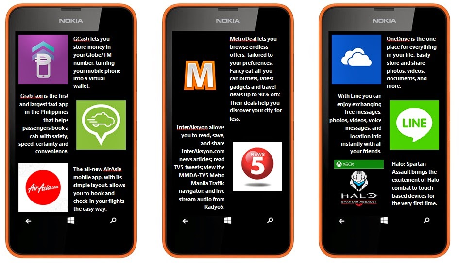 Apps List Nokia Lumia 630