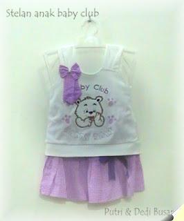 stelan anak bayi motif baby club