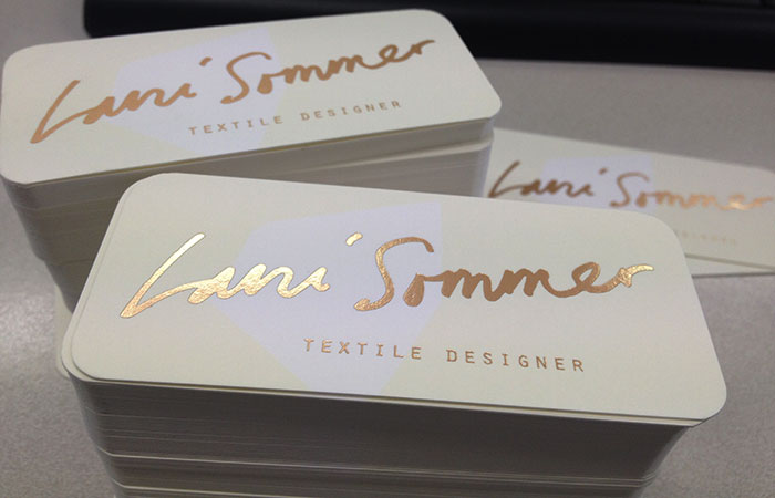 Luxury Business Cards Rose Gold Foil Business Cards