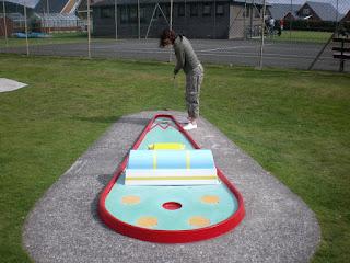 Crazy Golfing at Tywyn Leisure Park
