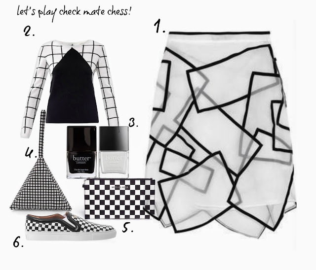 christopher kane asymmetric skirt ,chinti and parker sweater ,butter london nail ,  pouch ,michael kors ,jet set check , clutch ,Givenchy trainer