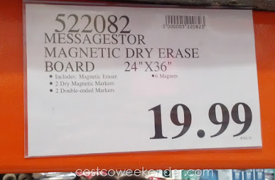 Deal for the Messagestor Magnetic Dry Erase Board at Costco