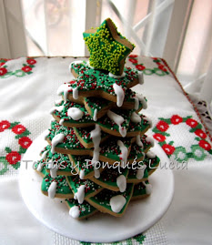 Arbol con nieve de galletas