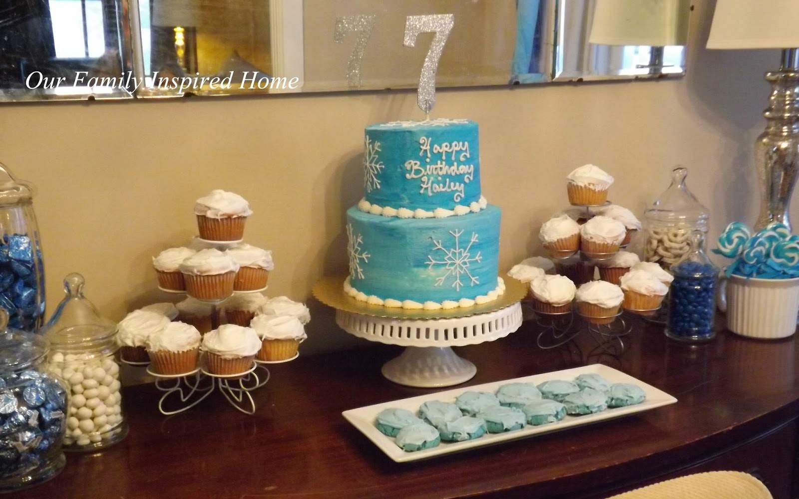 Our Family Inspired Home: Frozen Winter Birthday Party Part 2 ~ The ...