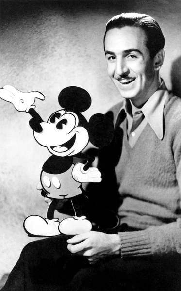Walt Disney and Mickey Mouse Wallpaper