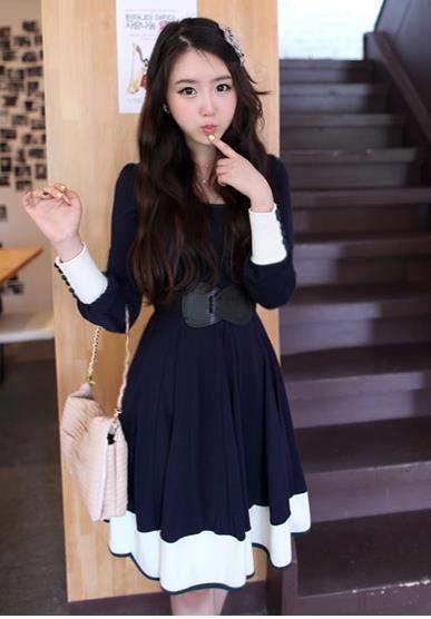Dress Biru lucu