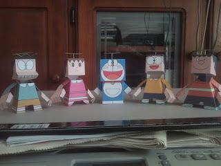 Doraemon Family Paper Toys